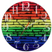 24 Units of Glass Wall Clocks Colorful Brick