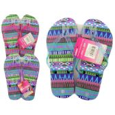 72 Units of GIRL'S FLIP FLOP SIZE 6-10