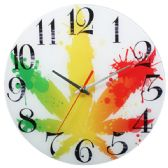 24 Units of Glass Wall Clock Fall Leaf