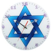 24 Units of Glass Blue Star Wall Clock
