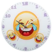 24 Units of Glass Emoji Wall Clock