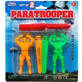 """144 Units of 2 Piece """"Paratrooper"""" Play Set w. Launcher - Action Figures & Robots"""