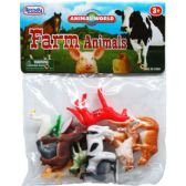 "108 Units of 12PC 2"" PLASTIC FARM ANIMALS IN POLY BAG W/HEADER - Animals & Reptiles"