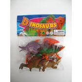 "48 Units of 6"" 5PC TOY DINOSAUR SET IN POLY BAG W/HEADER - Animals & Reptiles"