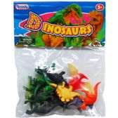 "108 Units of 12PC 2"" PLASTIC DINOSAURS IN POLY BAG W/HEADER - Animals & Reptiles"