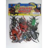 "24 Units of 6.5"" 6 PC TOY INSECT SET IN POLY BAG W/HEADER - Animals & Reptiles"