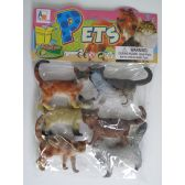 "36 Units of 5"" 6PC TOY CAT SET IN POLY BAG W/HEADER - Animals & Reptiles"