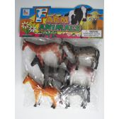 "24 Units of 6.5"" 6PC YPY HORSE SET IN POLY BAG W/HEADER - Animals & Reptiles"