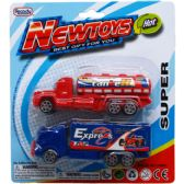 "144 Units of 2PC 4.75"" MINI RIGS SET IN BLISTER CARD ASSORTED COLORS - Cars, Planes, Trains & Bikes"