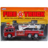 "72 Units of 7"" F/F FIRE TRUCK W/EXPANDABLE LADDER IN BLISTER CARD"