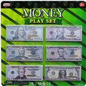 144 Units of 180 COUNT MINI MONEY PLAY SET IN BLISTER CARD - Toy Sets