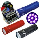 288 Units of 9 LED MINI ALUMINUM FLASHLIGHT. - Flash Lights