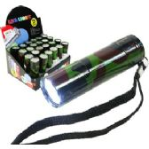 96 Units of CAMOUFLAGE 9-LED FLASHLIGHT - Flash Lights
