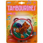 "144 Units of 4"" TAMBOURINE IN BLISTER CARD, FOUR ASSORTED - Musical"