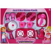 12 Units of KITCHEN TEA SET WITH ACCESSORIES IN WINDOW BOX - Girls Toys