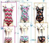 72 Units of Ladies 1 Piece Printed Bathing Suit - Womens Swimwear