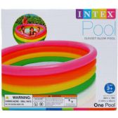 "6 Units of 66""X18"" SUNSET GLOW POOL, 4-RINGS, AGE 3+ IN COLOR BOX - SUMMER TOYS"