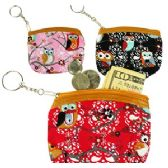 120 Units of OWL BRANCH COIN PURSE KEYCHAINS.