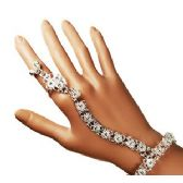 12 Units of BELLY DANCE SLAVE BRACELETS- SILVER - Bracelets
