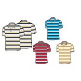 24 Units of Mens 100% Cotton Striped Polo Shirt - Mens Polo Shirts