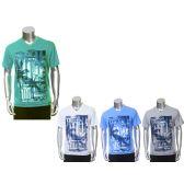 30 Units of Mens Fashion Printed V-neck TShirt - Mens Shirts