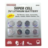 72 Units of 8 Pcs Super Cell 3V Lithium Battery - ELECTRICAL