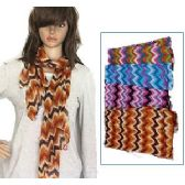 48 Units of Zig Zag Print Scarves - Womens Fashion Scarves
