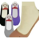 300 Units of TRAVEL SLIPPER-SOCKS ASSORTEMENT - Womens Slipper Sock