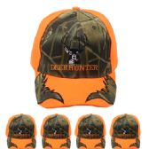 24 Units of Hunting Cap Camo (DEER HUNTER ) Velcro Adjustable Back - Hunting Caps