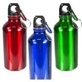 60 Units of 12 OZ ALUMINUM WATER BOTTLES W/KEYRING. - Drinking Water Bottle