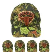 24 Units of Hunting Cap Camo (CAMO TEXAS) Velcro Adjustable Back - Hunting Caps
