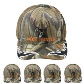 24 Units of Hunting Cap Camo (DEER HUNTER) Velcro Adjustable Back - Hunting Caps