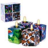 24 Units of 4 PIECE SQUARE CANDLE SETS. - Candles & Accessories