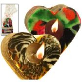 36 Units of VENEER HEART-SHAPED CANDLE SET. - Candles & Accessories