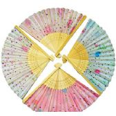 288 Units of HAND PAINTED SILK FOLDING HAND FANS