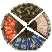 240 Units of ROSE AND LACE FOLDING HAND FAN