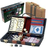 12 Units of 6-IN-1 GAME SET IN CARRYING CASE - Dominoes & Chess