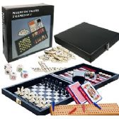 8 Units of 7-IN-1 MAGNETIC TRAVEL GAME SETS - Dominoes & Chess