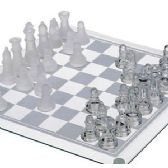 12 Units of GLASS CHESS SETS. - Dominoes & Chess