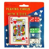 48 Units of PLAYING CARDS AND DICE. - Card Games