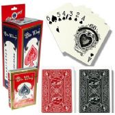 96 Units of PLASTIC COATED REGULATION SIZE PLAYING CARDS - Card Games