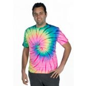48 Units of ADULT NEON ACID TIE-DYE T-SHIRTS