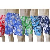 48 Units of MEN'S MICRO FIBER SWIM SHORTS - Hawaiian Print