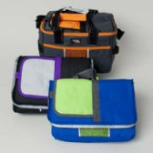 24 Units of Cooler 18 Can Box Double Handle Collapsible 3asst Colors Insulated - Cooler & Lunch Bags