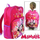 "12 Units of DISNEY'S MINNIE BOWTIQUE BACKPACKS. - Backpacks 15"" or Less"
