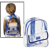 "24 Units of CLEAR BACKPACKS. - Backpacks 15"" or Less"