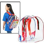 "24 Units of CLEAR VINYL BACKPACKS. - Backpacks 15"" or Less"