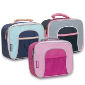 24 Units of GIRLS MESH FRONT LUNCH BAG - 3 COLORS - Lunch Bags & Accessories