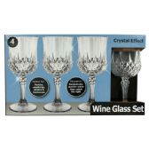 12 Units of Crystal Effect Plastic Wine Glass Set - Glassware