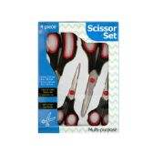 12 Units of Multi-Purpose Stainless Steel Scissor Set - Kitchen Gadgets